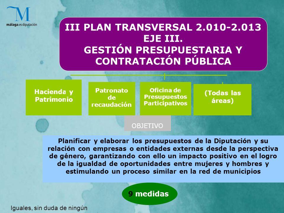 III PLAN TRANSVERSAL 2.010-2.013 EJE III.