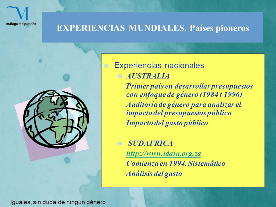 EXPERIENCIAS MUNDIALES.