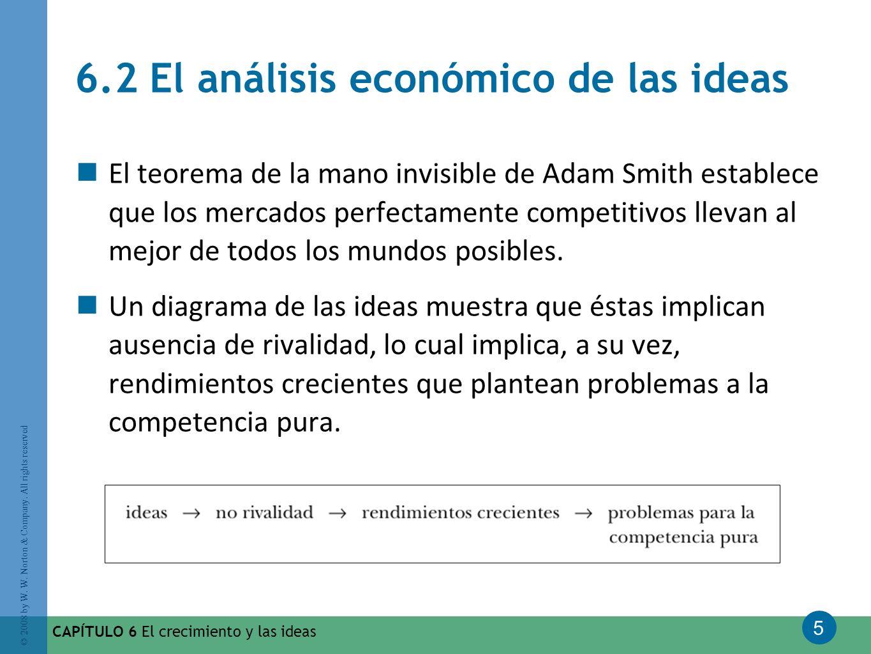 5 © 2008 by W. W. Norton & Company. All rights reserved CAPÍTULO 6 El crecimiento y las ideas 6.2 El análisis económico de las ideas El teorema de la