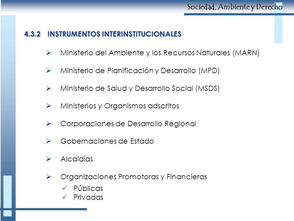 Ministerio del Ambiente y los Recursos Naturales (MARN) Ministerio de Planificación y Desarrollo (MPD) Ministerio de Salud y Desarrollo Social (MSDS)