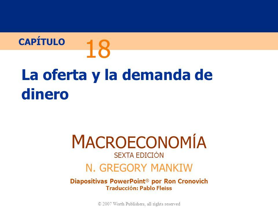 Diapositiva 20 CAPÍTULO 18 La Oferta y la Demanda de Dinero Tipos de descuento Definición: son los tipos de interés que el Banco Central cobra cuado concede préstamos a los bancos comerciales.