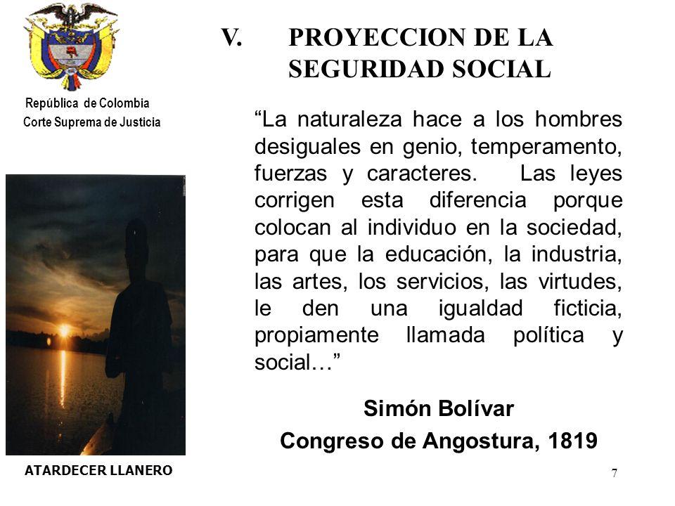 18 PLAYA LEVANTE República de Colombia Corte Suprema de Justicia VIII.