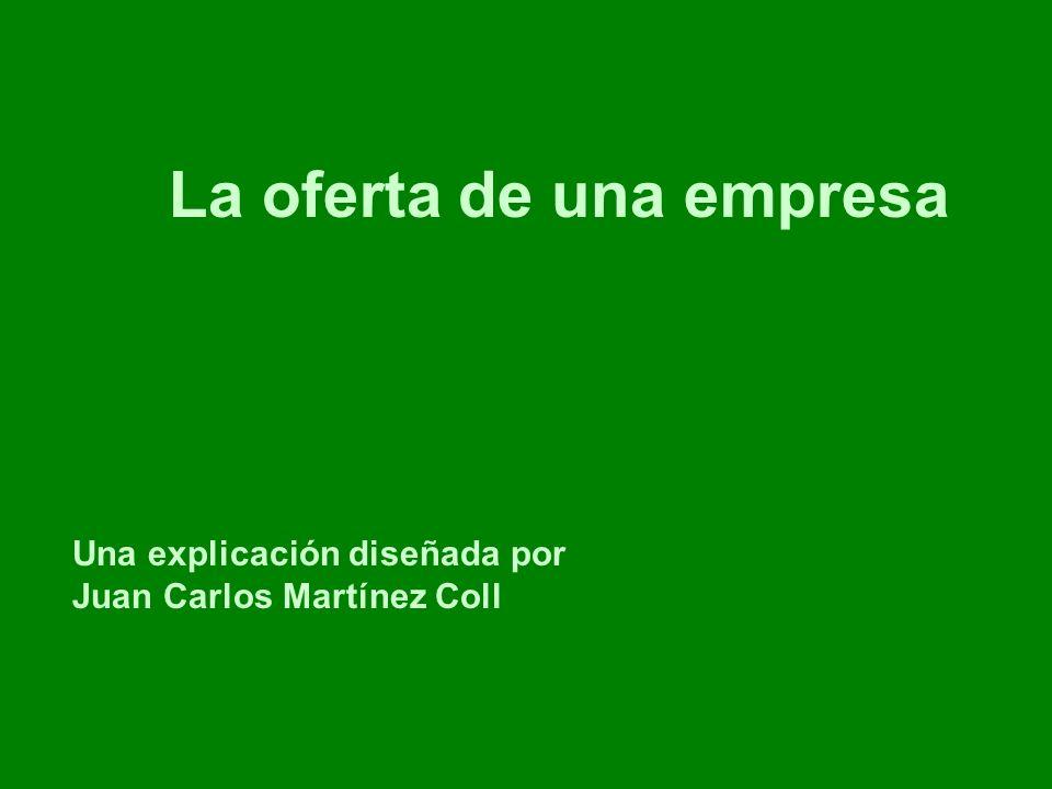coll@uma.es Una explicación diseñada por Juan Carlos Martínez Coll costes precios cantidad producida costes marginales Q1 P1 En los mercados en libre competencia, la cantidad producida por la empresa es la que hace el coste marginal igual al precio.