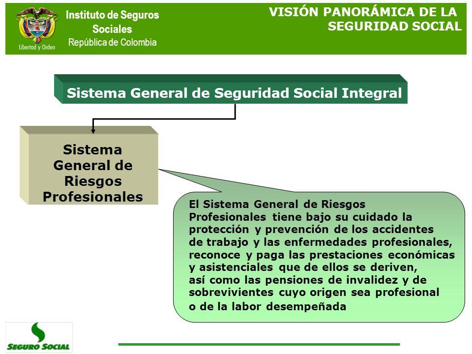 Instituto de Seguros Sociales República de Colombia Sistema General de Seguridad Social Integral Sistema General de Riesgos Profesionales El Sistema G