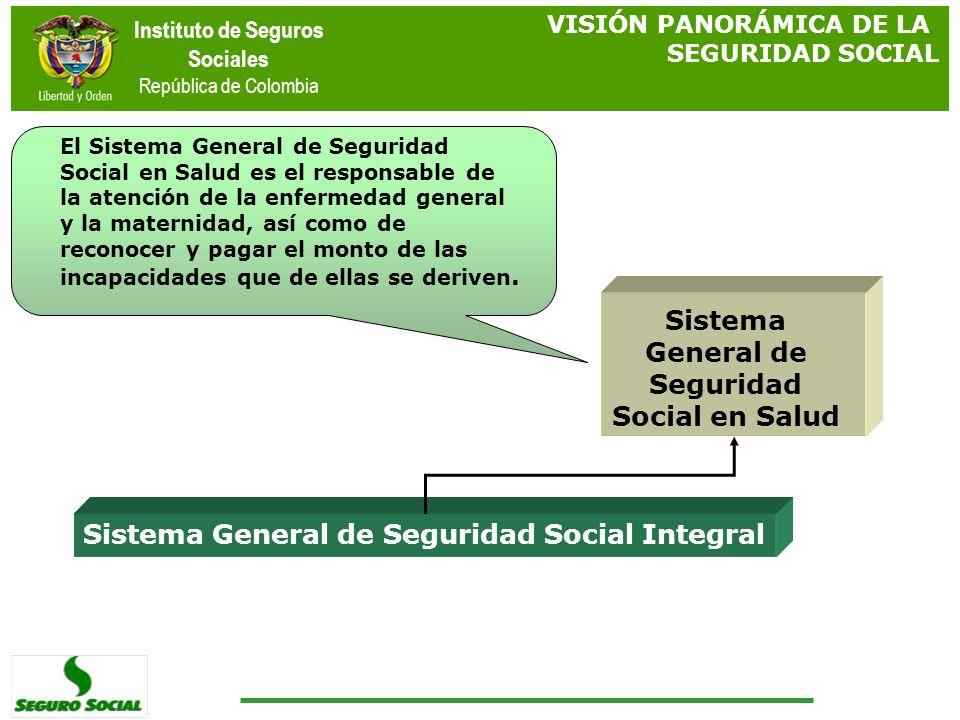 Instituto de Seguros Sociales República de Colombia Sistema General de Seguridad Social Integral Sistema General de Seguridad Social en Salud El Siste