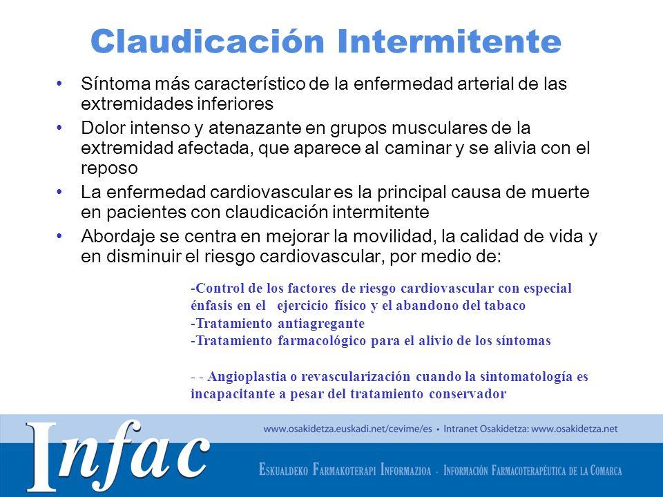 http://www.osakidetza.euskadi.net Claudicación Intermitente Síntoma más característico de la enfermedad arterial de las extremidades inferiores Dolor