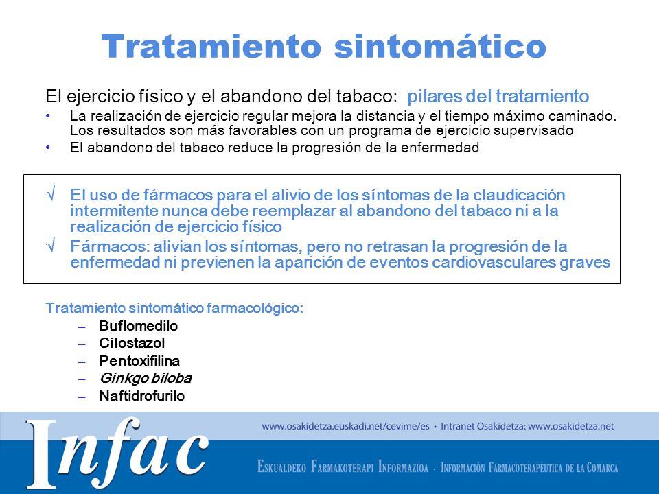 http://www.osakidetza.euskadi.net Tratamiento sintomático El ejercicio físico y el abandono del tabaco: pilares del tratamiento La realización de ejer