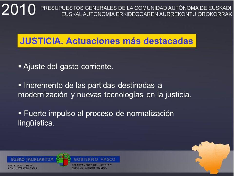Despliegue de la nueva oficina judicial.