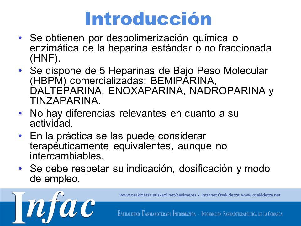 http://www.osakidetza.euskadi.net Indicaciones Son los fármacos de elección en la prevención de la enfermedad tromboembólica venosa (ETV): –Trombosis venosa profunda (TVP) –Tromboembolismo pulmonar (TEP)