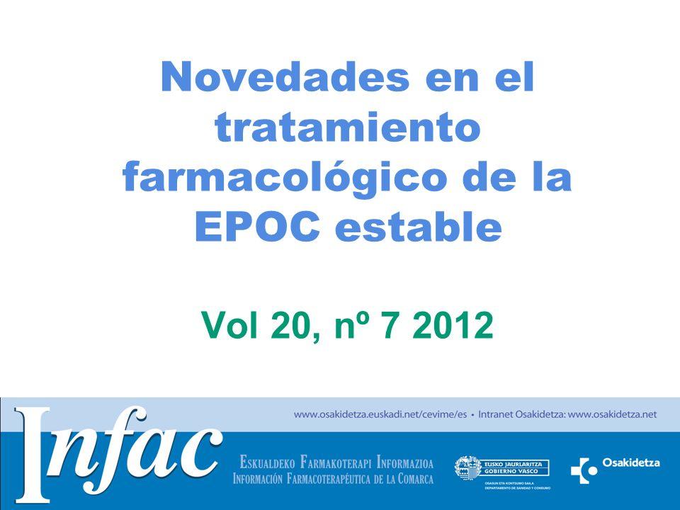 http://www.osakidetza.euskadi.net Sumario Introducción Tratamiento farmacológico de la EPOC Áreas de acuerdo de las guías de práctica clínica (GPC) Áreas de incertidumbre y discrepancias en las GPC Aspectos de seguridad de los medicamentos Ideas clave
