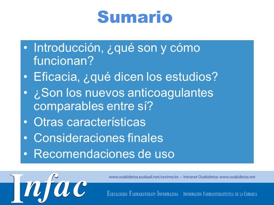 http://www.osakidetza.euskadi.net Otras características… Dabigatr á n (PRADAXA) Rivaroxab á n (XARELTO) Apixab á n (ELIQUIS) Pauta150 mg/12 h (conservar en el embalaje original para protegerlo de la humedad) 20 mg/d í a (con alimentos) 5 mg/12 h Ajuste de dosis en las siguientes situaciones 110 mg/12 h en 80 a ñ os, gastritis, esofagitis, o reflujo gastroesof á gico.
