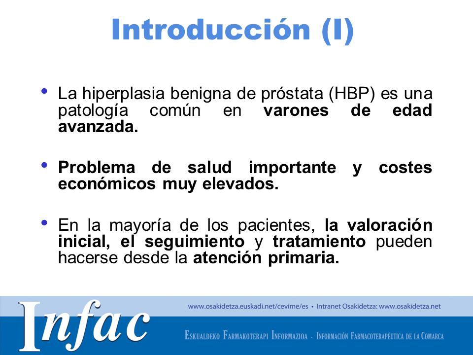 http://www.osakidetza.euskadi.net Introducción (I) La hiperplasia benigna de próstata (HBP) es una patología común en varones de edad avanzada.