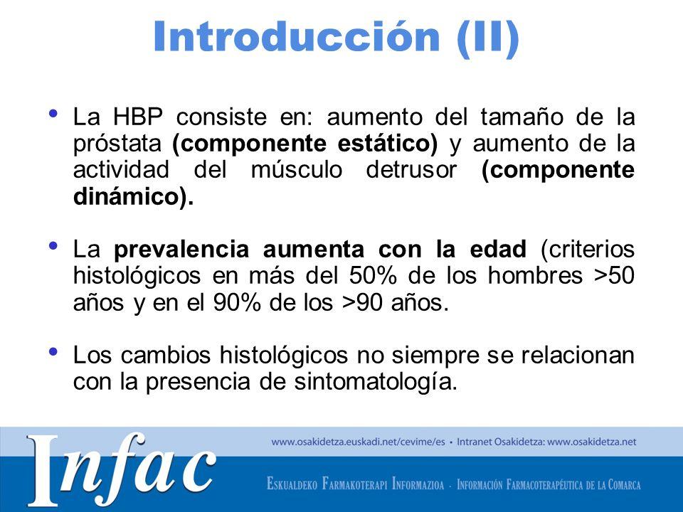 http://www.osakidetza.euskadi.net Introducción (II) La HBP consiste en: aumento del tamaño de la próstata (componente estático) y aumento de la actividad del músculo detrusor (componente dinámico).