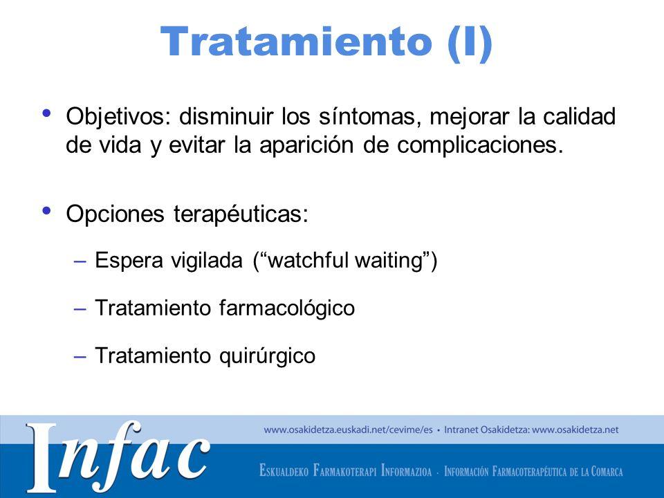 http://www.osakidetza.euskadi.net Espera vigilada (Watchful waiting) En pacientes con sintomatología leve-moderada y poca afectación de la calidad de vida.