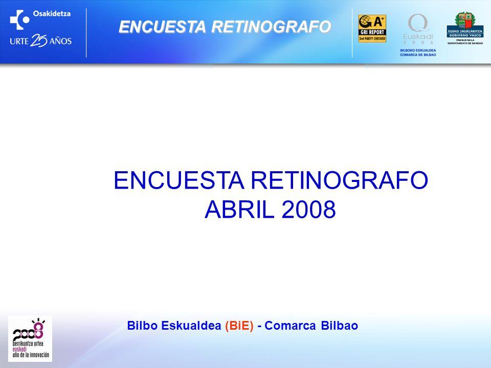 Bilbo Eskualdea (BiE) - Comarca Bilbao ENCUESTA RETINOGRAFO Datos Basicos Encuesta telefónica realizada por Gizaker los dias 28 y 29 de abril de 2008.