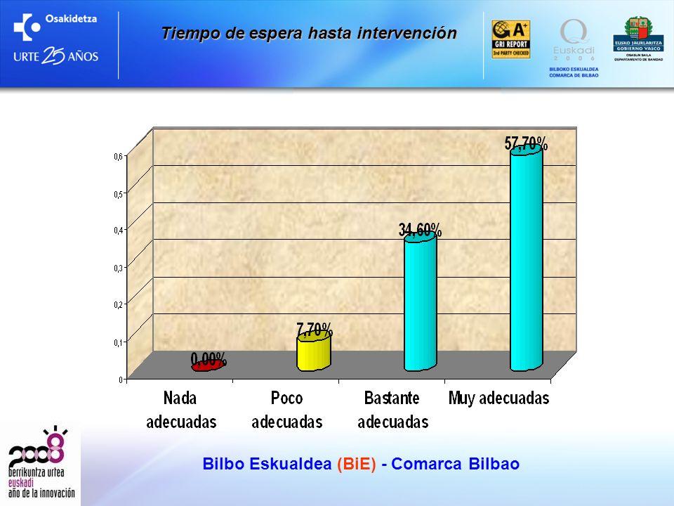Bilbo Eskualdea (BiE) - Comarca Bilbao Tiempo de espera hasta intervención