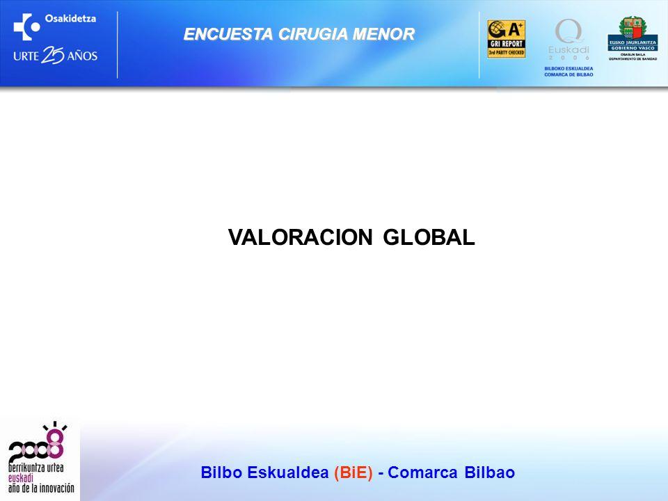 Bilbo Eskualdea (BiE) - Comarca Bilbao ENCUESTA CIRUGIA MENOR VALORACION GLOBAL