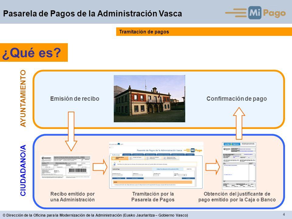 5 © Dirección de la Oficina para la Modernización de la Administración (Eusko Jaurlaritza – Gobierno Vasco) Pasarela de Pagos de la Administración Vasca ¿Quién.