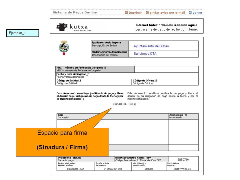 Ayuntamiento de Bilbao Sanciones OTA Espacio para firma (Sinadura / Firma) Ejemplar_1