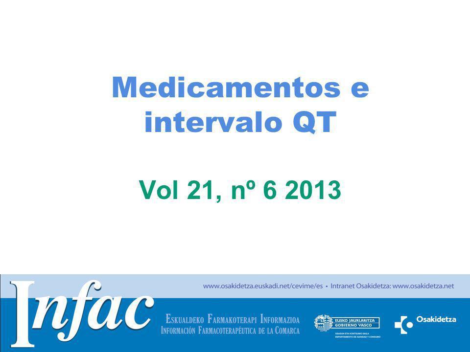 http://www.osakidetza.euskadi.net Medicamentos e intervalo QT Vol 21, nº 6 2013