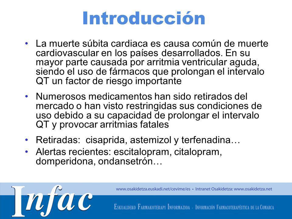 http://www.osakidetza.euskadi.net Introducción La muerte súbita cardiaca es causa común de muerte cardiovascular en los países desarrollados. En su ma