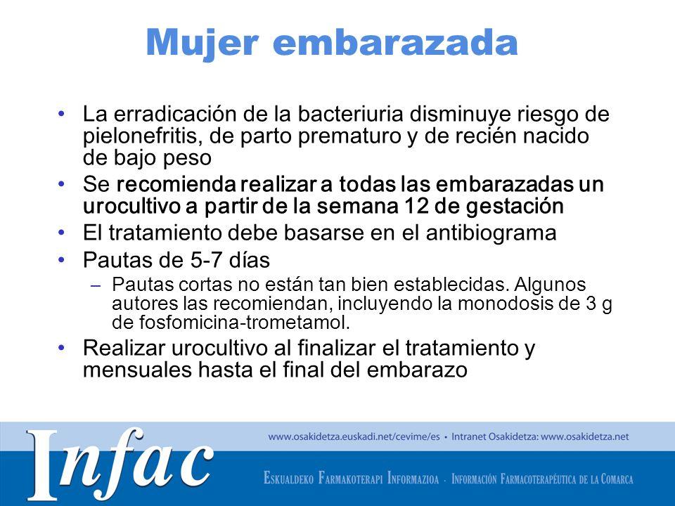 http://www.osakidetza.euskadi.net Mujer embarazada La erradicación de la bacteriuria disminuye riesgo de pielonefritis, de parto prematuro y de recién