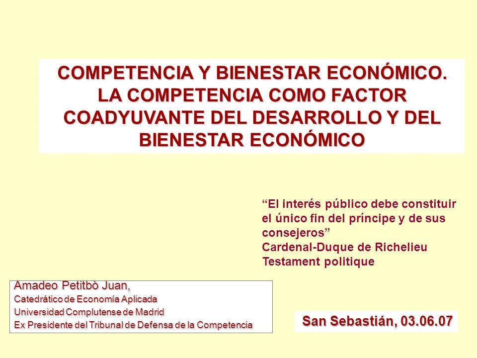 Amadeo Petitbò Juan, Catedrático de Economía Aplicada Universidad Complutense de Madrid Ex Presidente del Tribunal de Defensa de la Competencia COMPET