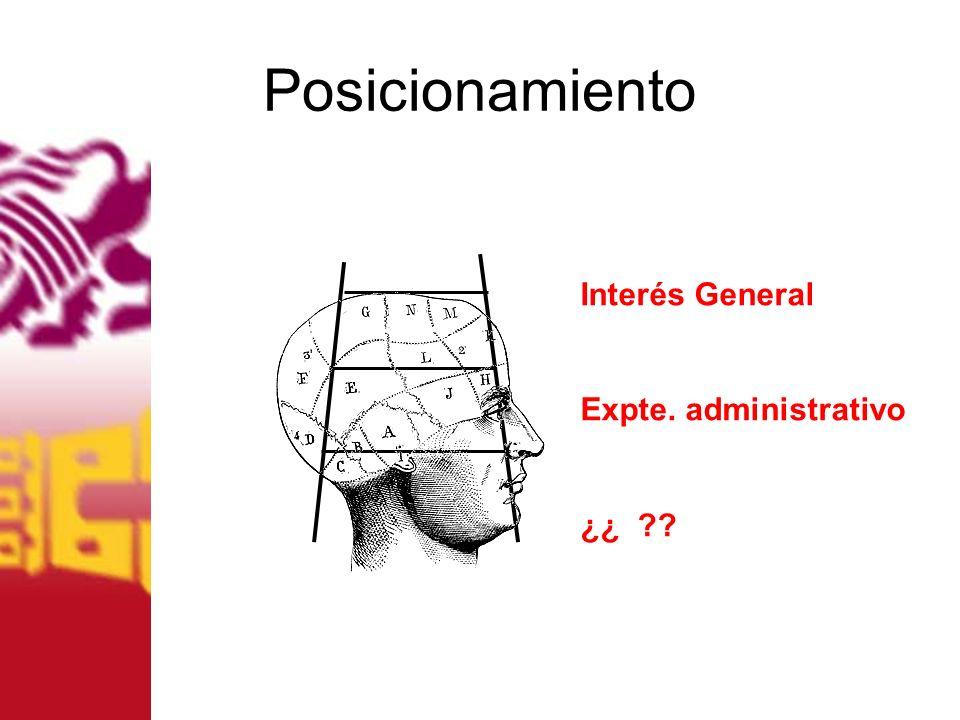 Posicionamiento Interés General Expte. administrativo ¿¿ ??