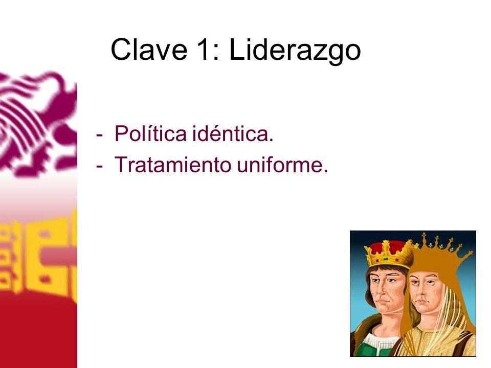 Clave 1: Liderazgo -Política idéntica. -Tratamiento uniforme.
