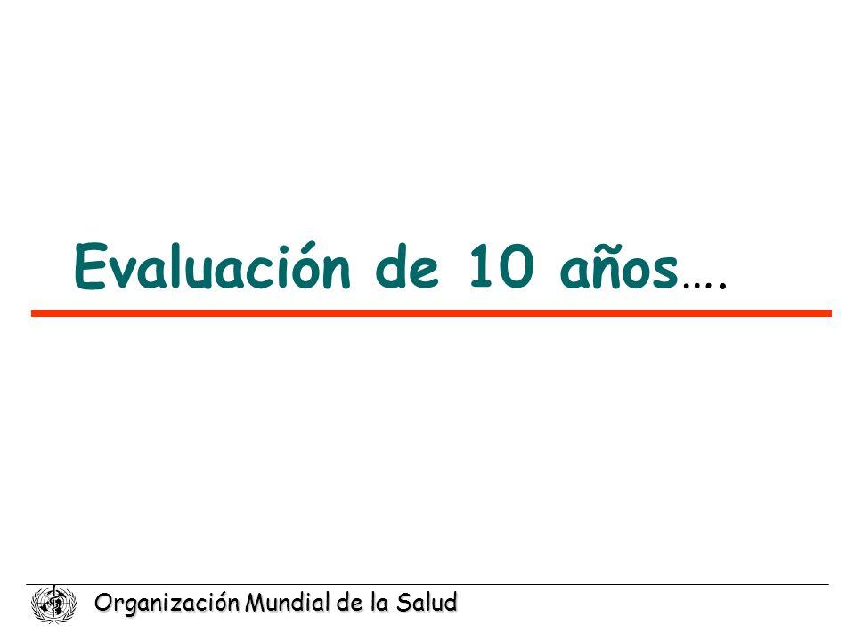 Organización Mundial de la Salud Evaluación de 10 años ….