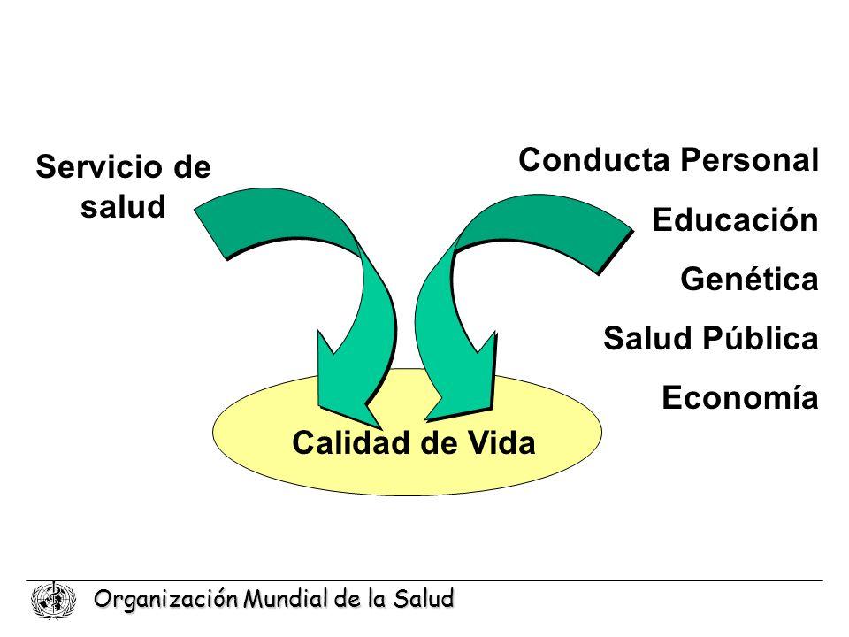 Organización Mundial de la Salud Conducta Personal Educación Genética Salud Pública Economía Servicio de salud Calidad de Vida