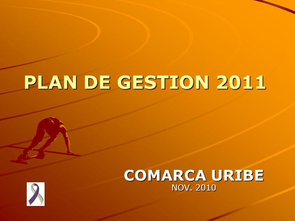PLAN DE GESTION 2011 COMARCA URIBE NOV. 2010