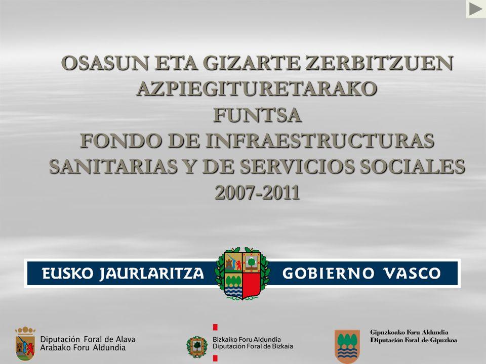 OSASUN ETA GIZARTE ZERBITZUEN AZPIEGITURETARAKO FUNTSA FONDO DE INFRAESTRUCTURAS SANITARIAS Y DE SERVICIOS SOCIALES 2007-2011