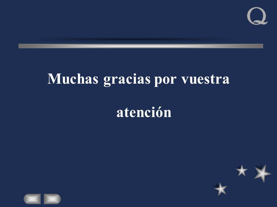 Muchas gracias por vuestra atención