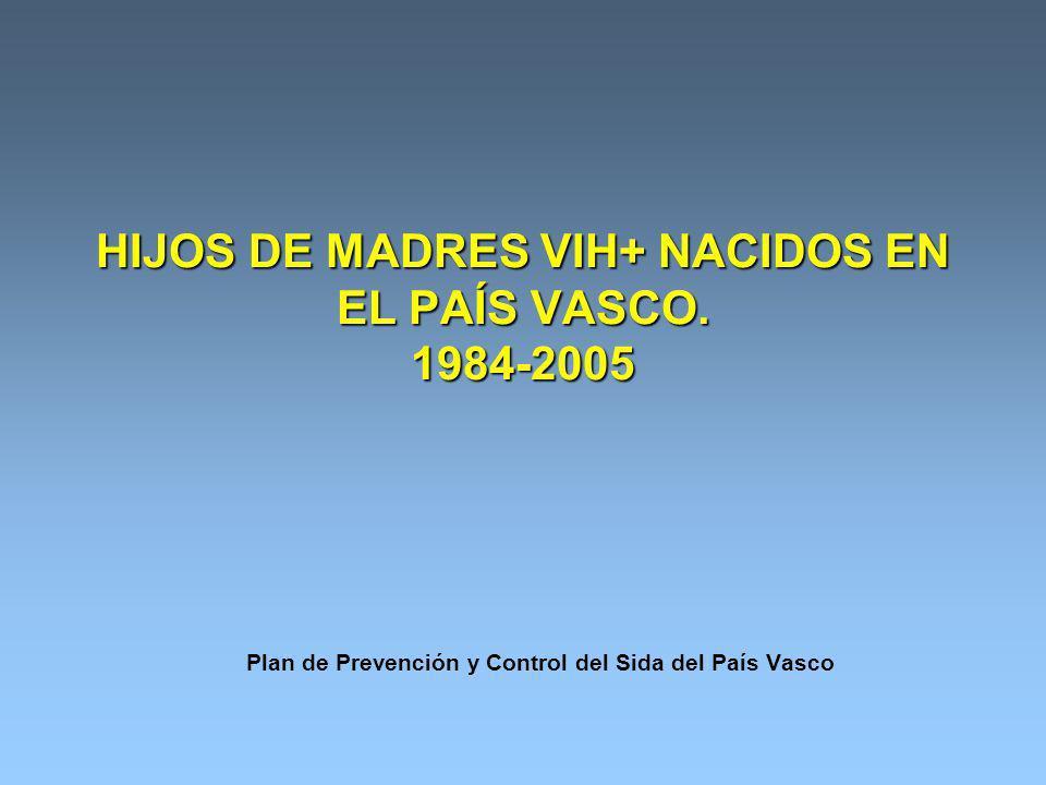 HIJOS DE MADRES VIH+ NACIDOS EN EL PAÍS VASCO.