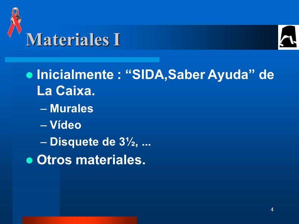 5 Materiales II Facilitado por el Plan de Prevención del SIDA del Dpto.