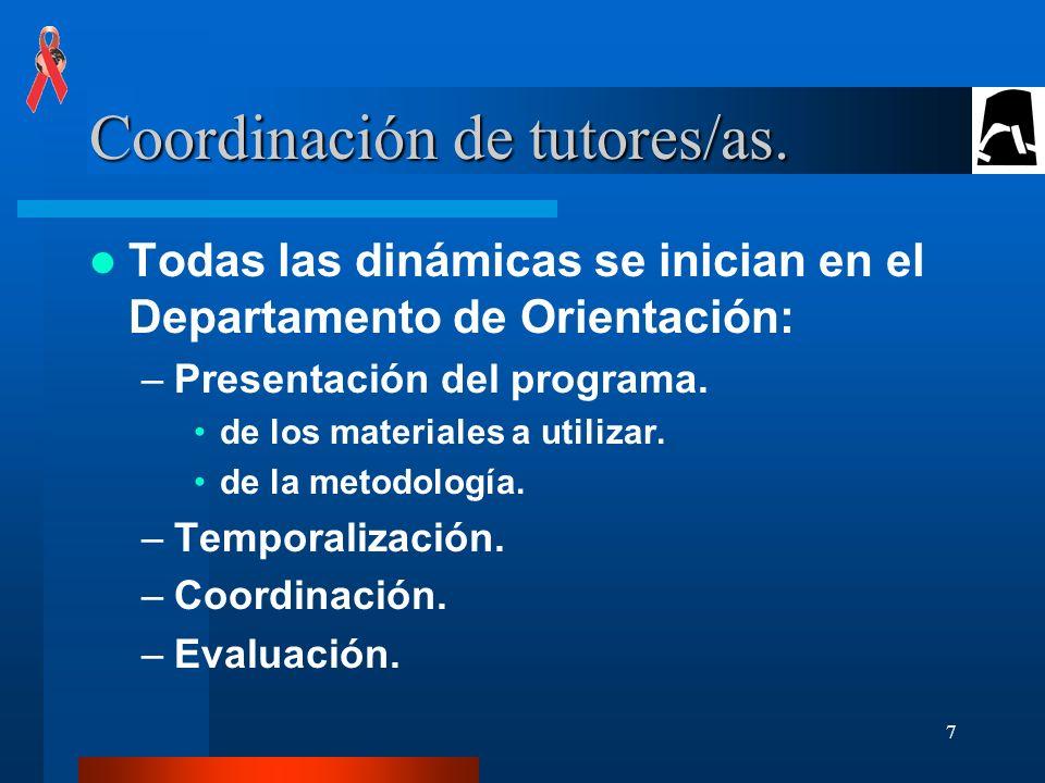 7 Coordinación de tutores/as.