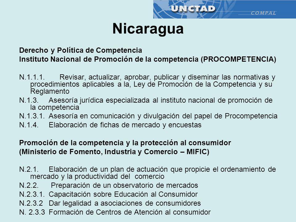 Derecho y Política de Competencia Instituto Nacional de Promoción de la competencia (PROCOMPETENCIA) N.1.1.1. Revisar, actualizar, aprobar, publicar y