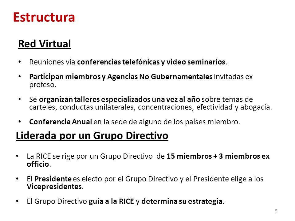 Red Virtual Reuniones vía conferencias telefónicas y video seminarios. Participan miembros y Agencias No Gubernamentales invitadas ex profeso. Se orga