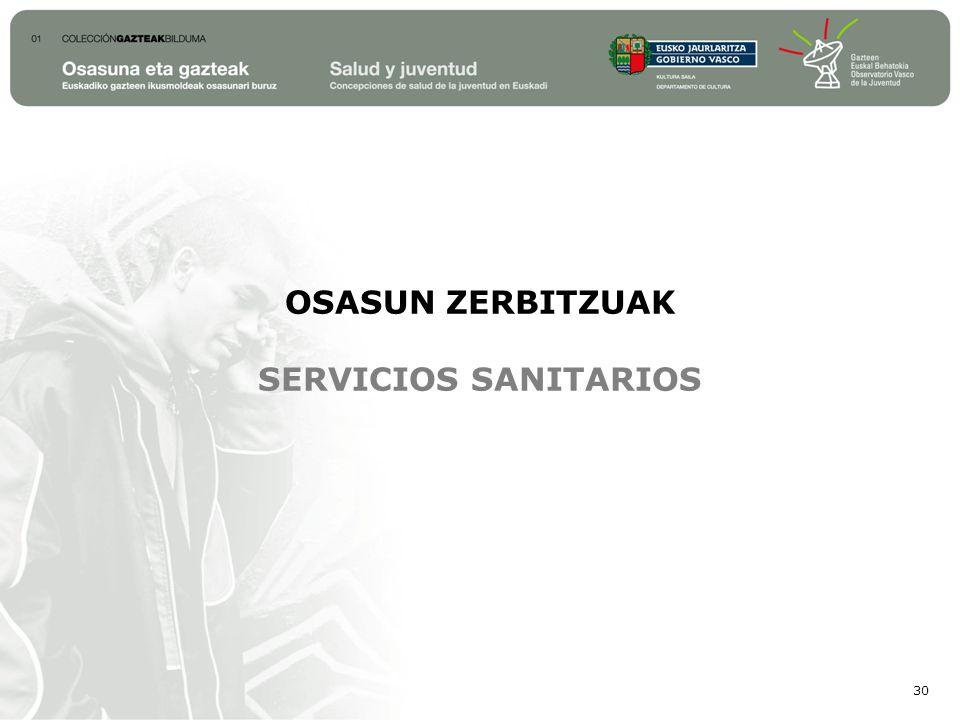 OSASUN ZERBITZUAK SERVICIOS SANITARIOS 30
