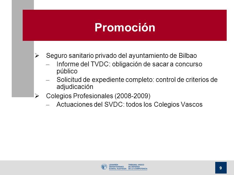 9 Promoción Seguro sanitario privado del ayuntamiento de Bilbao – Informe del TVDC: obligación de sacar a concurso público – Solicitud de expediente c