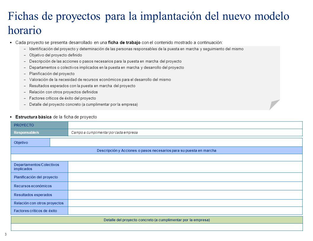 3 Cada proyecto se presenta desarrollado en una ficha de trabajo con el contenido mostrado a continuación: Identificación del proyecto y determinación
