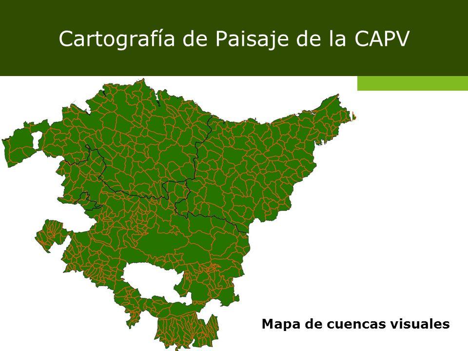 Cartografía de Paisaje de la CAPV Mapa de cuencas visuales