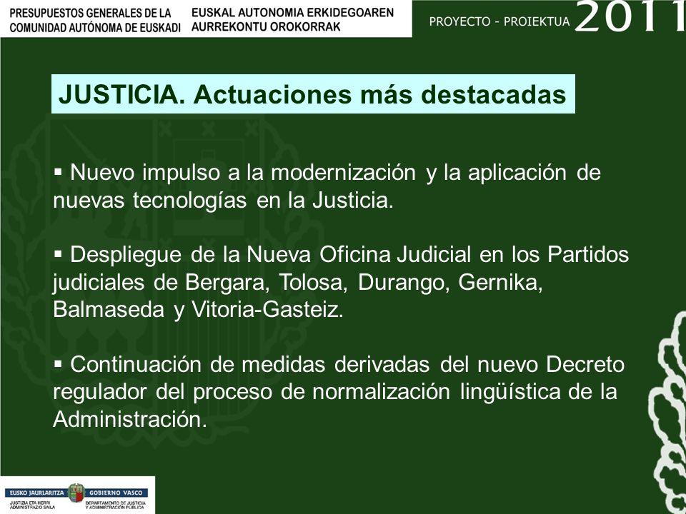 Nuevo impulso a la modernización y la aplicación de nuevas tecnologías en la Justicia.