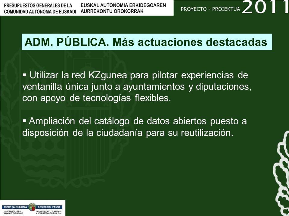 Utilizar la red KZgunea para pilotar experiencias de ventanilla única junto a ayuntamientos y diputaciones, con apoyo de tecnologías flexibles.
