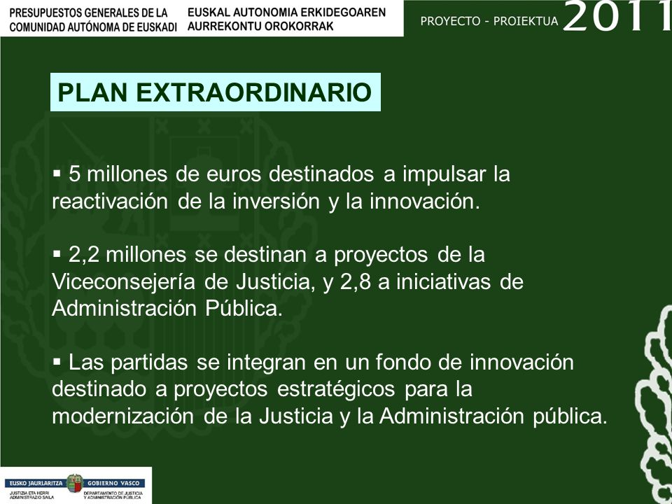 5 millones de euros destinados a impulsar la reactivación de la inversión y la innovación.