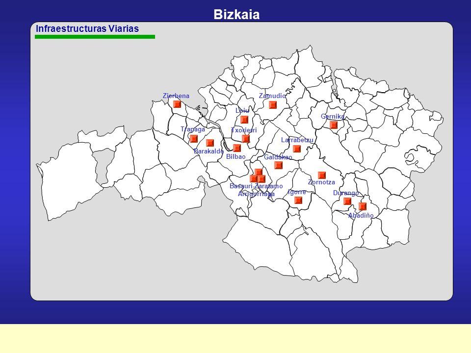 Plan Marco de Apoyo Financiero a la Inversión Pública 2003-2007 LURRALDE ETA JARDUN-ATALEN ARABERAKO PLANAREN INBERTSIOEN BANAKETA DISTRIBUCIÓN TERRITORIAL Y POR ÁREAS DE ACTUACIÓN DE LAS INVERSIONES DEL PLAN BIZKAIA Miles de BIZKAIA Infraestructuras viarias OO.HH.