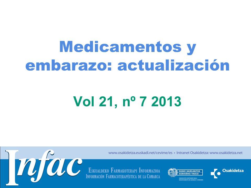 http://www.osakidetza.euskadi.net INFECCIONES (I) Uso de antiinfecciosos durante el embarazo –Las penicilinas, cefalosporinas y la eritromicina se consideran medicamentos seguros durante el embarazo.