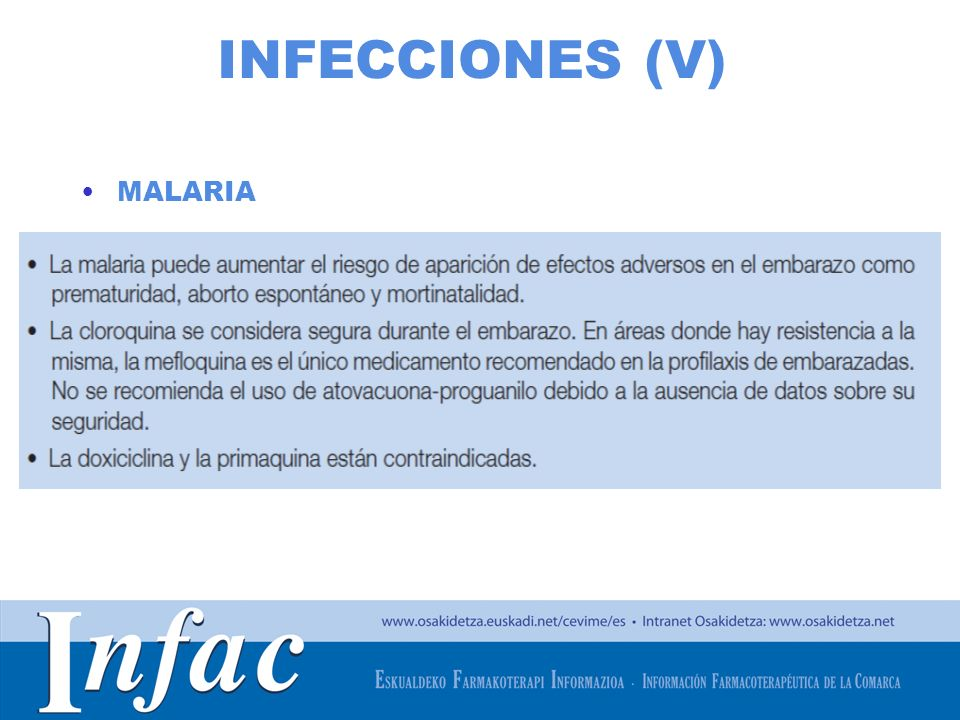 http://www.osakidetza.euskadi.net INFECCIONES (V) MALARIA