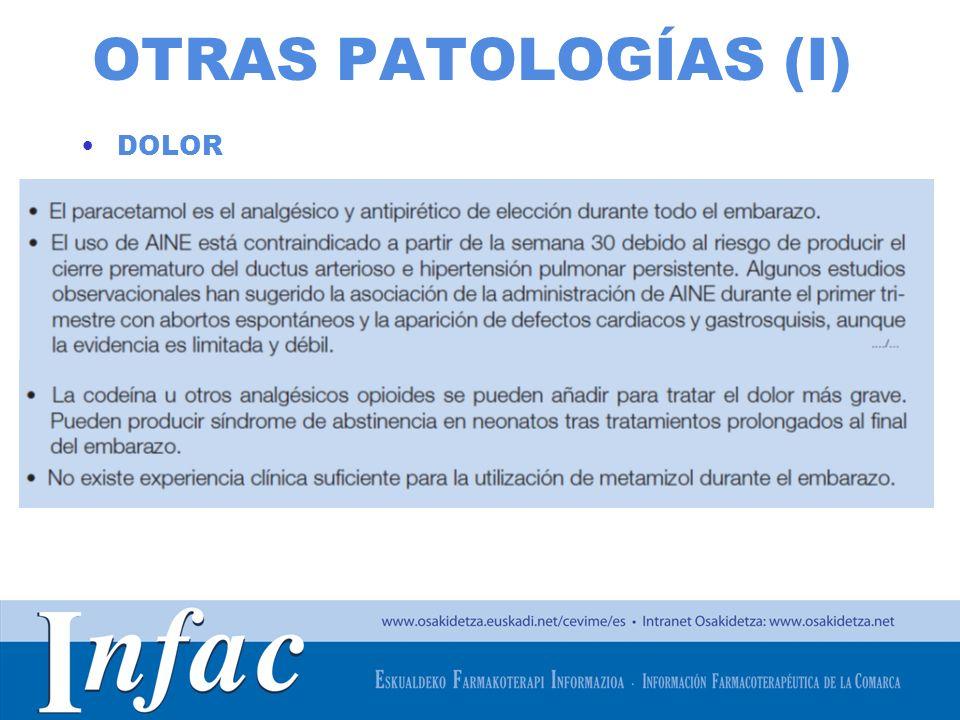 http://www.osakidetza.euskadi.net OTRAS PATOLOGÍAS (I) DOLOR